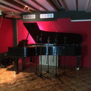 Recording on the big Steinway at One Soul Studio