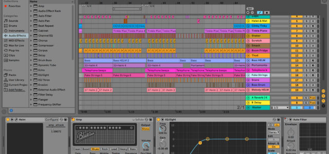 Ableton view of Kitchen Tune
