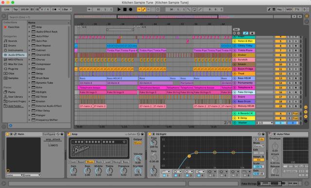 Ableton view of Kitchen Tune